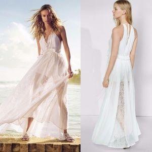 Express white lace maxi dress